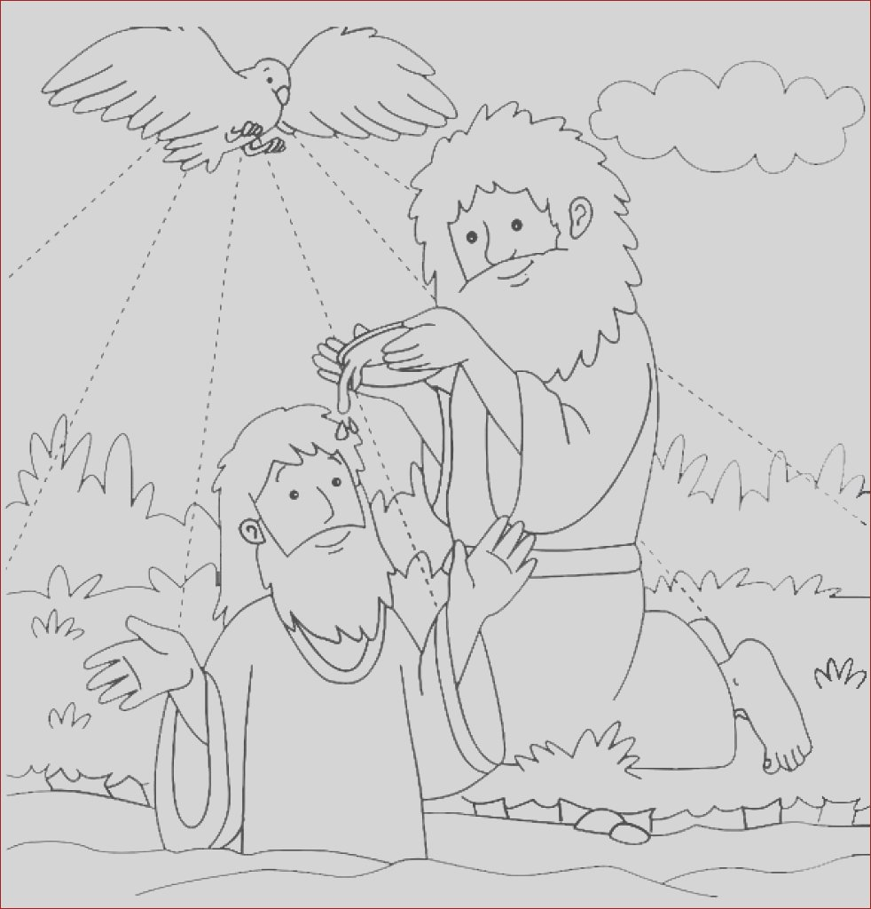 baptism coloring pages printables