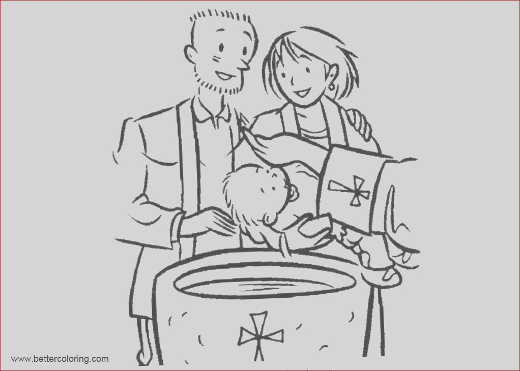 baby baptism coloring pages