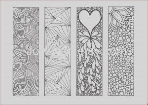 Bookmarks Coloring Awesome Stock Bookmarks to Color Diy Zentangle Inspired Printable Digital