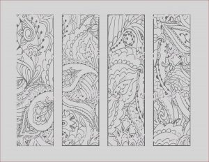 Bookmarks Coloring Beautiful Stock Printable Bookmark Coloring Page Book Mark Adult Instant
