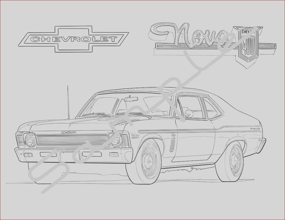 1970 chevy nova adult coloring page