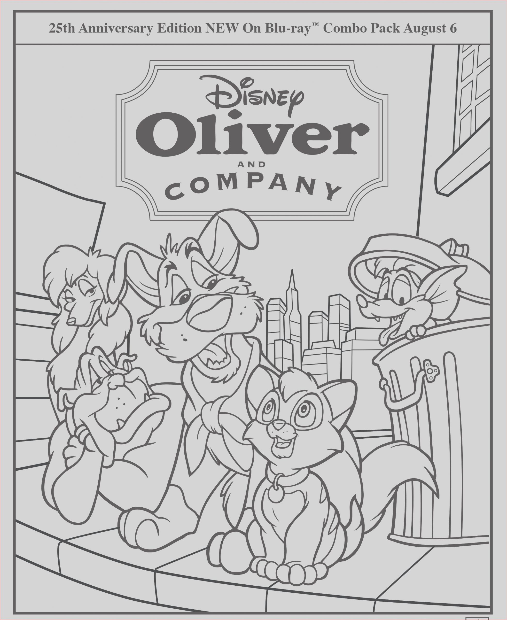 oliver and pany coloring pages
