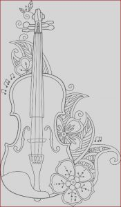 Coloring Gallery New Images Coloring Page Violin with Flowers and Leafs Stock