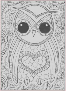 Coloring Pages Adult Free New Image Owl Coloring Pages for Adults Free Detailed Owl Coloring