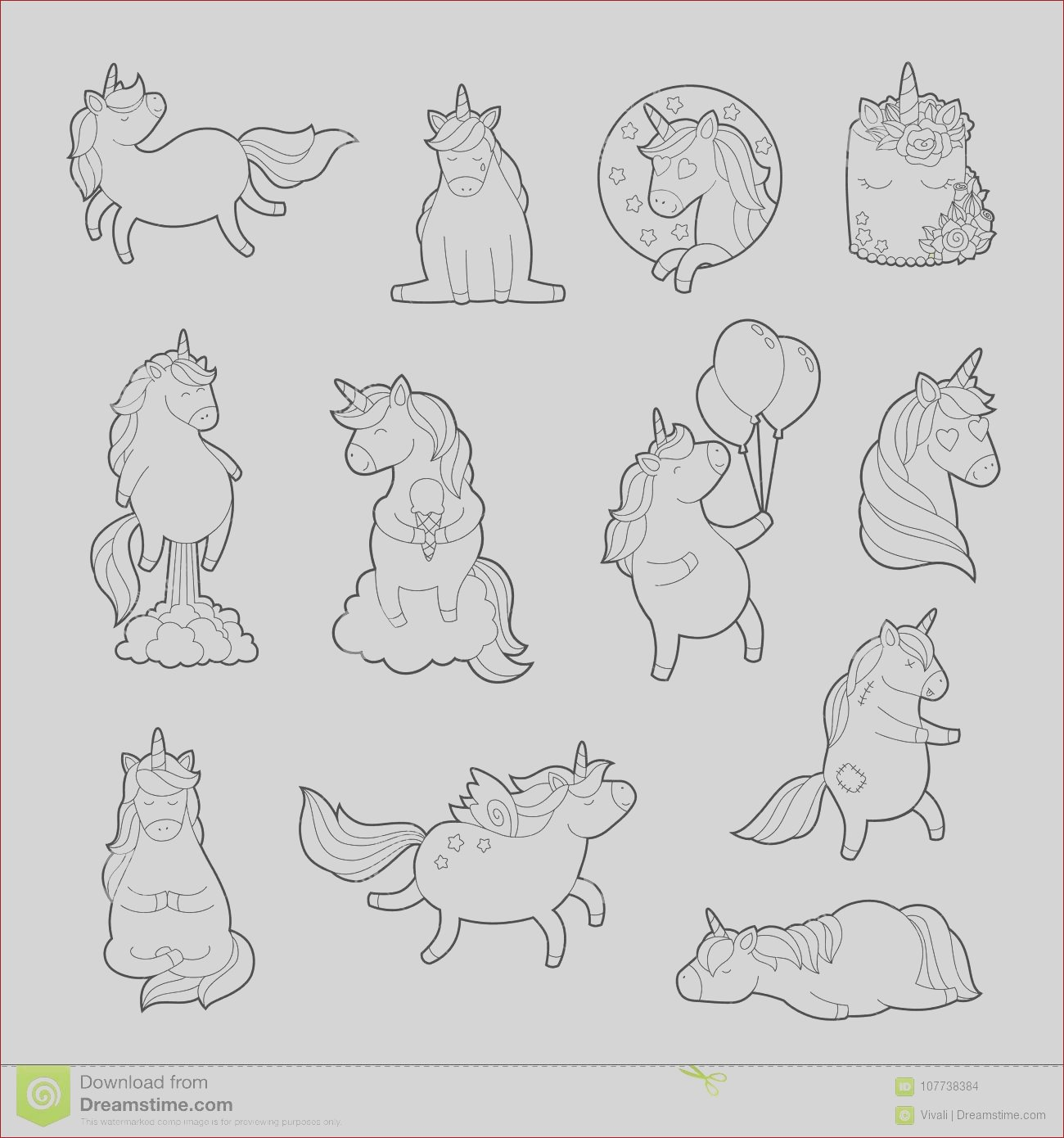 magic unicorn adult coloring pages trendy sticker pack teenage pin set zombie pony vector fashion rainbow different image