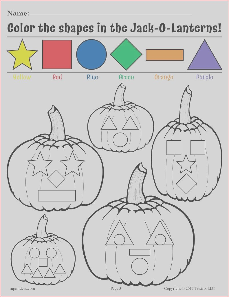 free printable color the shapes in the jack o lanterns worksheet a7385