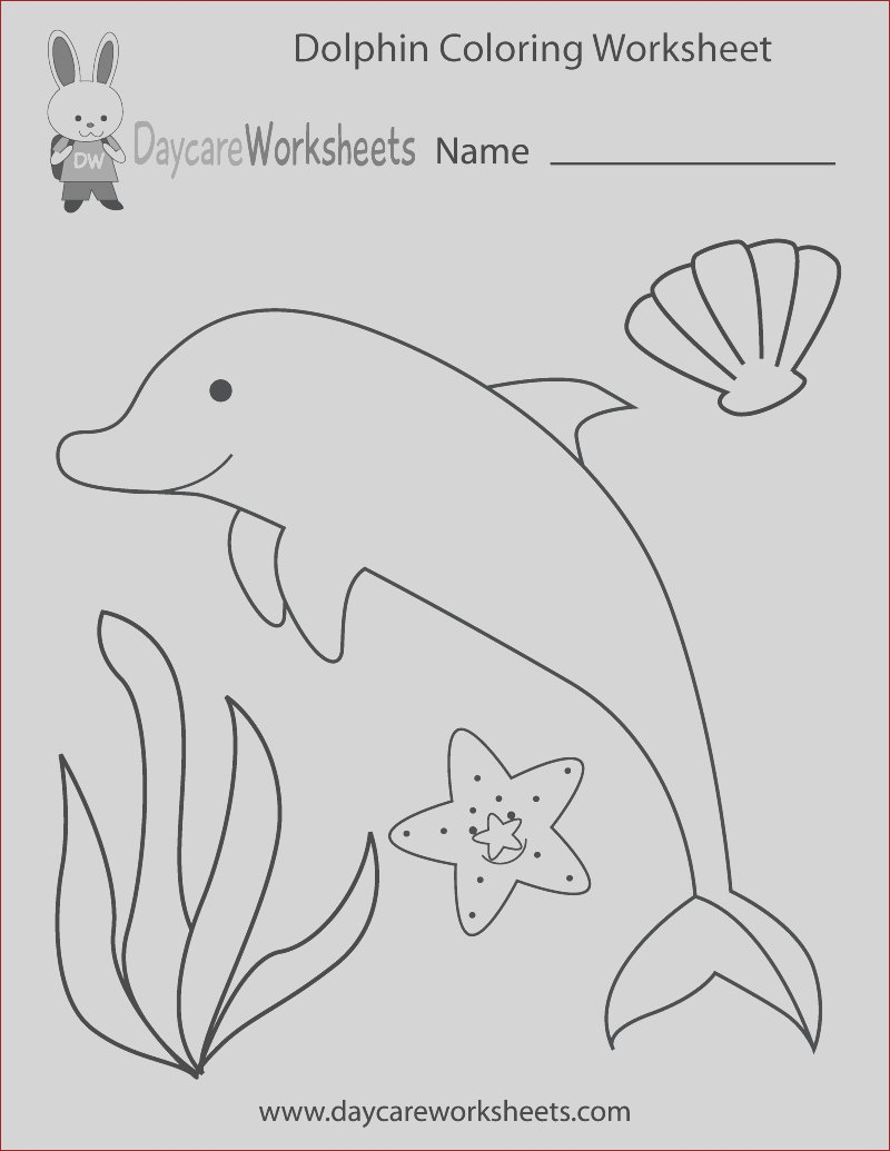 dolphin coloring worksheet