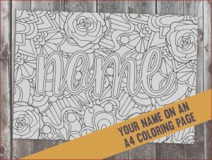 Custom Coloring Book Printing Elegant Photos Custom Coloring Page From Your Name Cbl00n Printable A4
