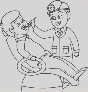 Dentist Coloring Pages New Gallery Dental Doctor People Health Coloring Page