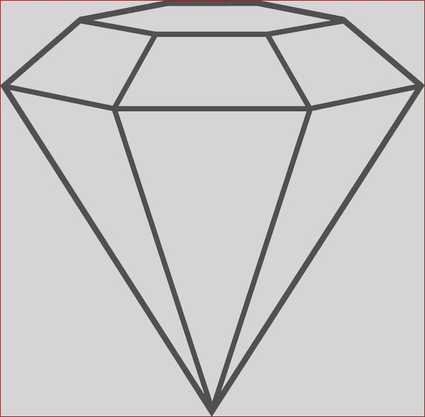 diamond shape outline coloring pages