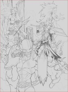 Final Fantasy Coloring Pages Best Of Collection Final Fantasy Free Coloring Pages