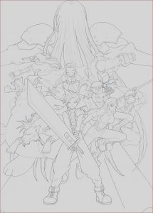 Final Fantasy Coloring Pages Best Of Photos Final Fantasy 7 Fan Art