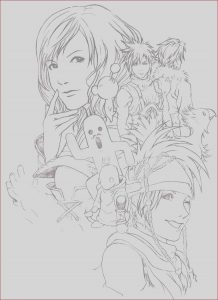 Final Fantasy Coloring Pages Cool Photos Hail the Final Fantasy Lineart by Kowan On Deviantart