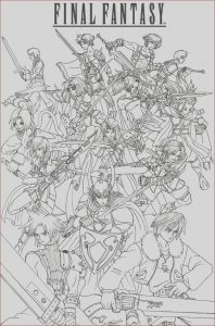 Final Fantasy Coloring Pages Inspirational Photos Final Fantasy 7 Coloring Pages Coloring Home