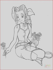 Final Fantasy Coloring Pages Luxury Images Aeris From Final Fantasy Vii Coloring Page