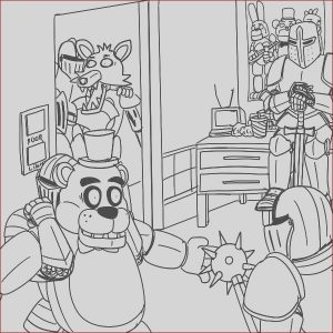 Fnaf Printable Coloring Pages Awesome Images Fnaf Coloring Pages 24 Coloring Pages for Kids
