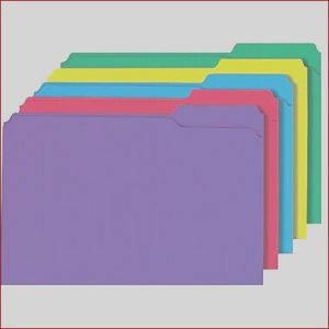 Folder Coloring Cool Collection Staples Colored 3 Tab File Folders Legal assorted Colors