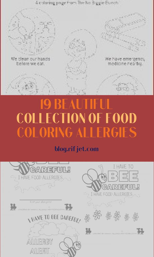 Food Coloring Allergies Awesome Stock Food Allergy Skills for Kids Coloring Page Allergyhome