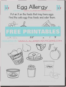Food Coloring Allergies Beautiful Gallery Food Allergy Match and Identify Printables Lil Allergy