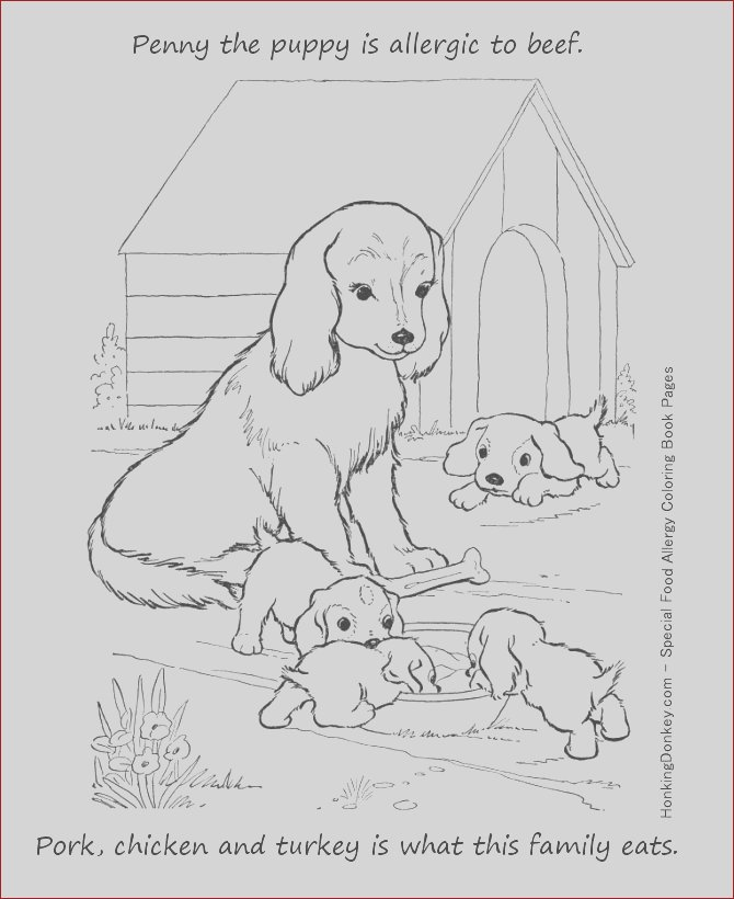 food allergy colouring pages