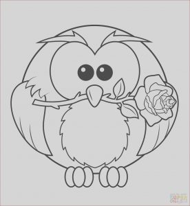 High Resolution Coloring Book Images Best Of Photos Owl with Rose Coloring Page