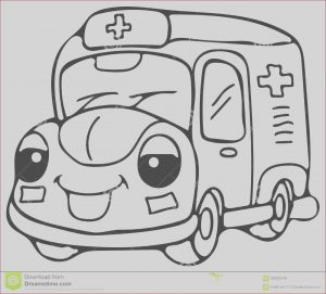 High Resolution Coloring Book Images Inspirational Stock Emergency Ambulance Car Coloring Pages Stock Illustration