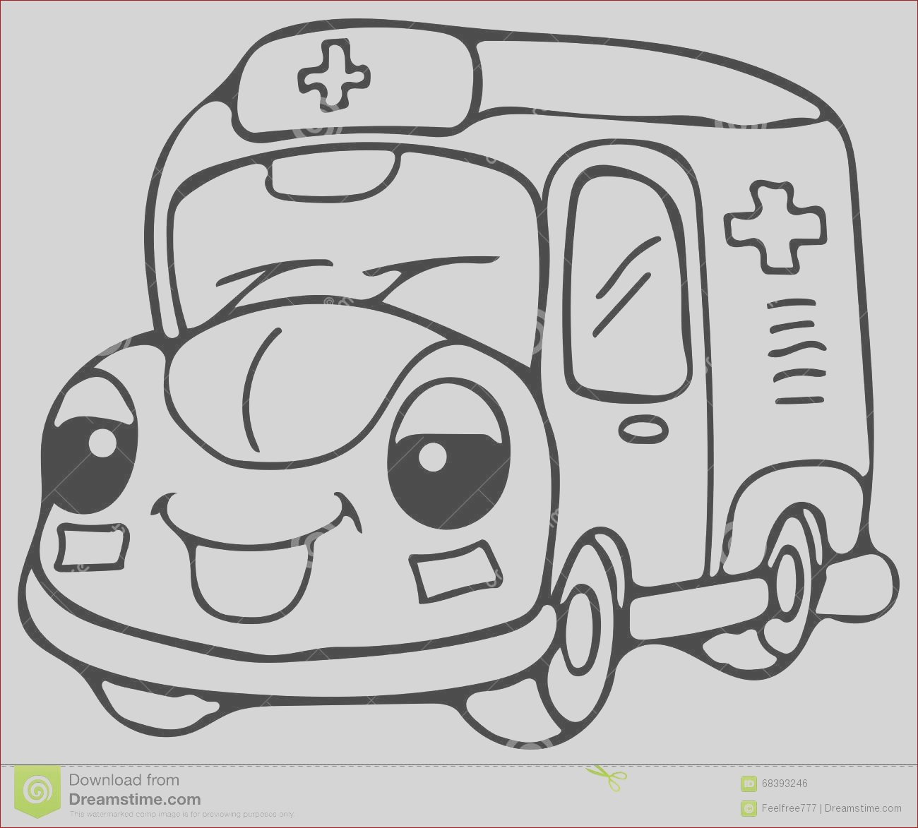 stock illustration emergency ambulance car coloring pages high quality hand drawing illustration picture you can see funny great picture image