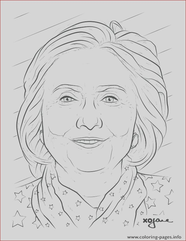 hillary clinton printable coloring pages book