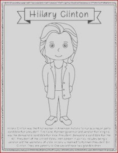Hillary Clinton Coloring Page Luxury Images Susan B Anthony Biography Coloring Page Craft or Poster