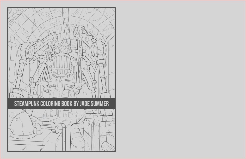steampunk coloring book paperback
