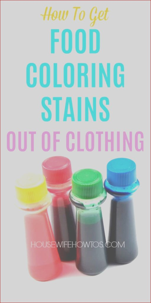 how to food coloring stains out of clothing
