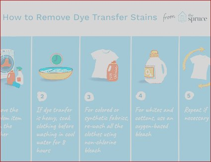 how to remove dye bleeding stains