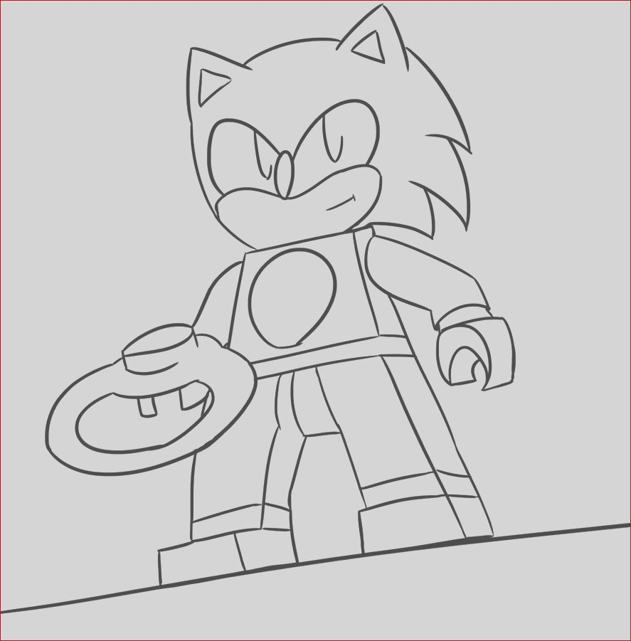 Sonic The Lego Dimension Lineart