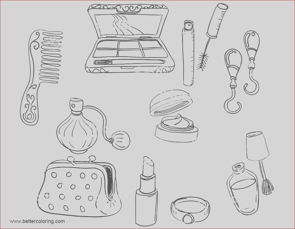 makeup coloring pages make up tools