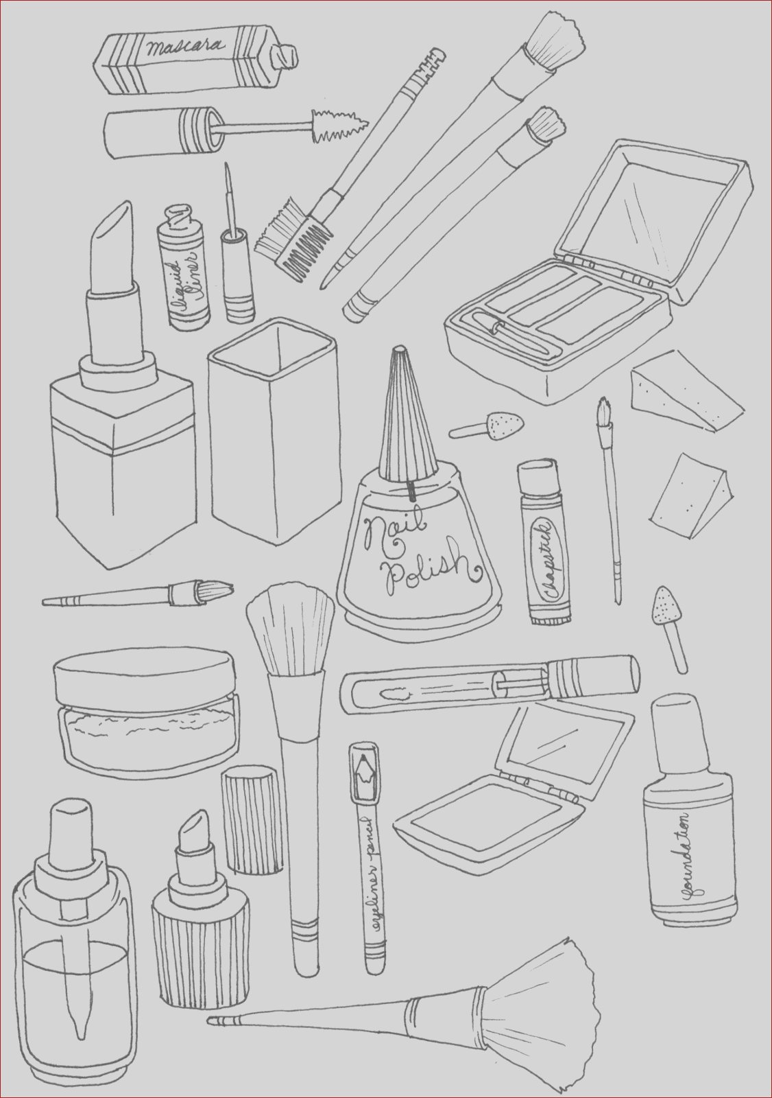 wednesday fun makeup coloring page