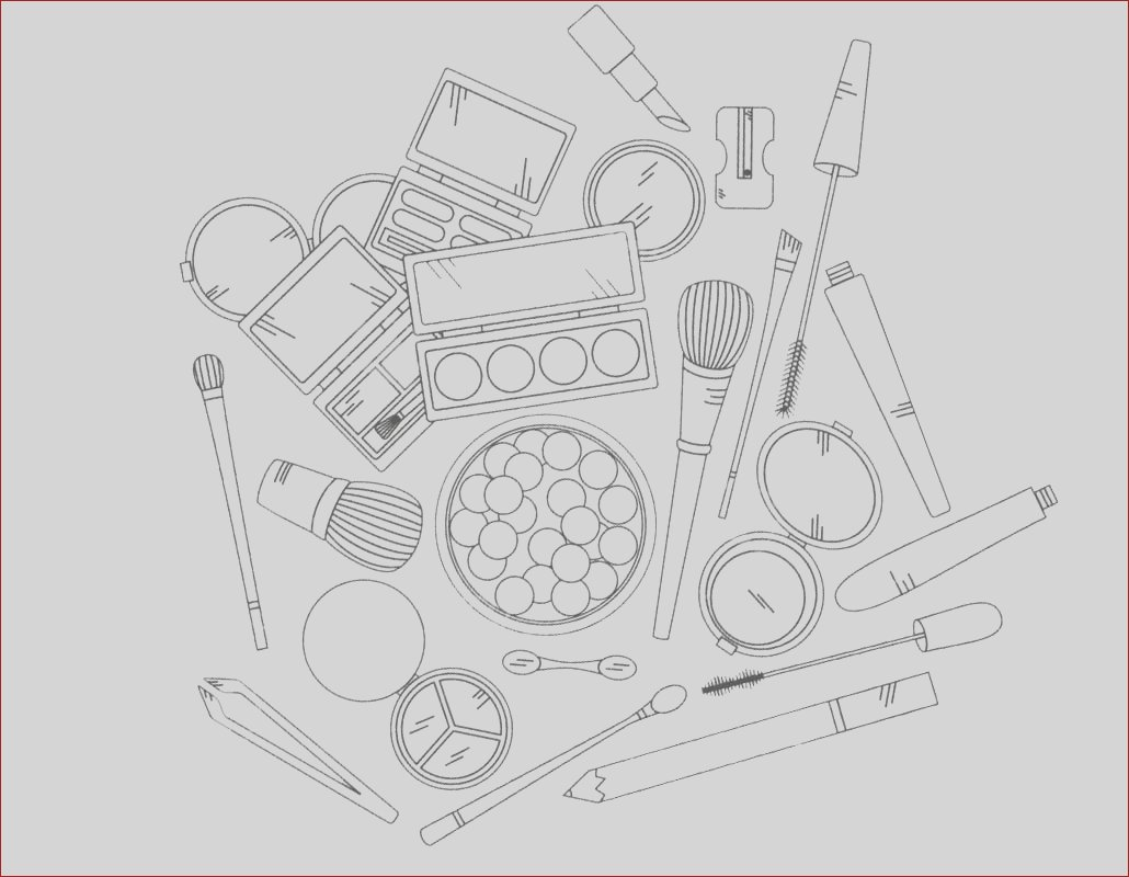 makeup coloring pages beauty products