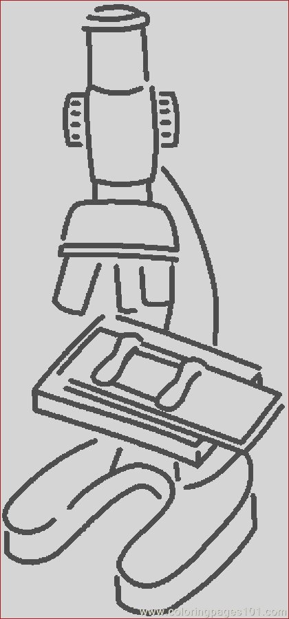 microscope 8 coloring page
