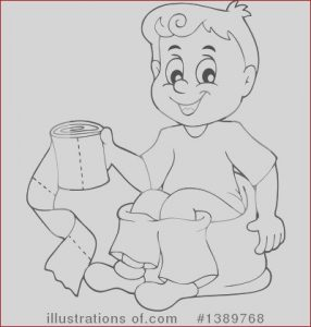 Potty Training Coloring Page Unique Photos Potty Training Clipart Illustration by Visekart