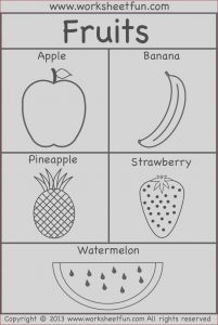 Preschool Coloring Activity Awesome Image Fruits