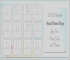 Print On Demand Coloring Books Beautiful Photography 2020 Calendar Dog Coloring Pages Printable Set Monday