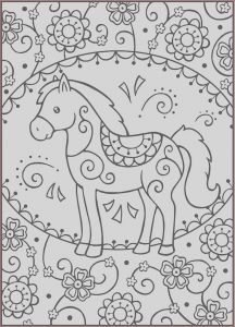 Printable Coloring Book for Kids Luxury Photos Dover Spark Horses Coloring Page 1