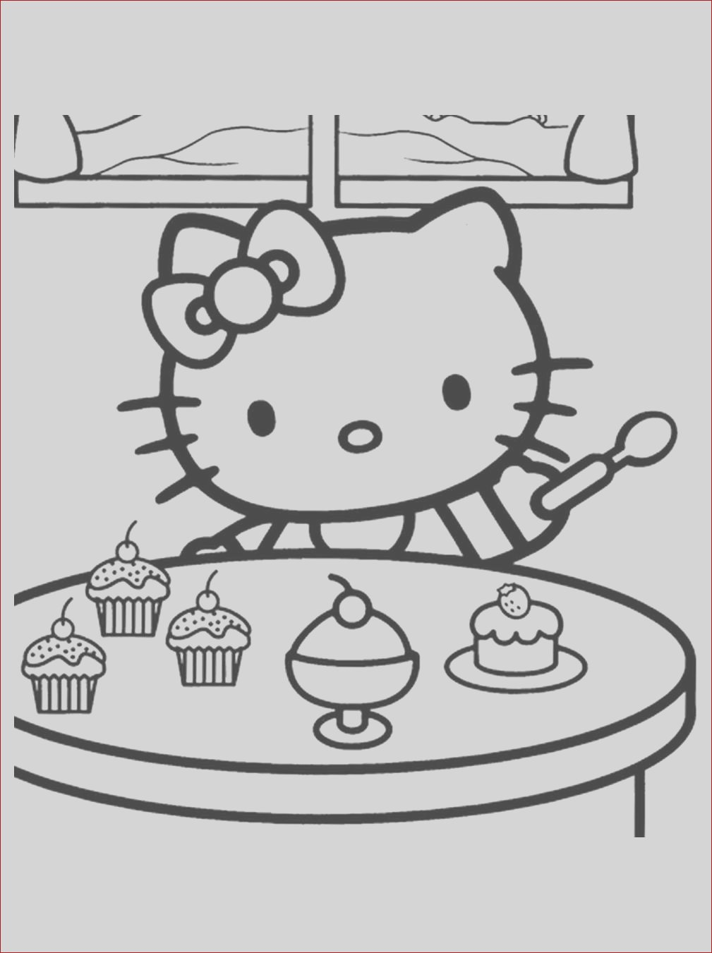 image=hello kitty Coloring for kids hello kitty 1