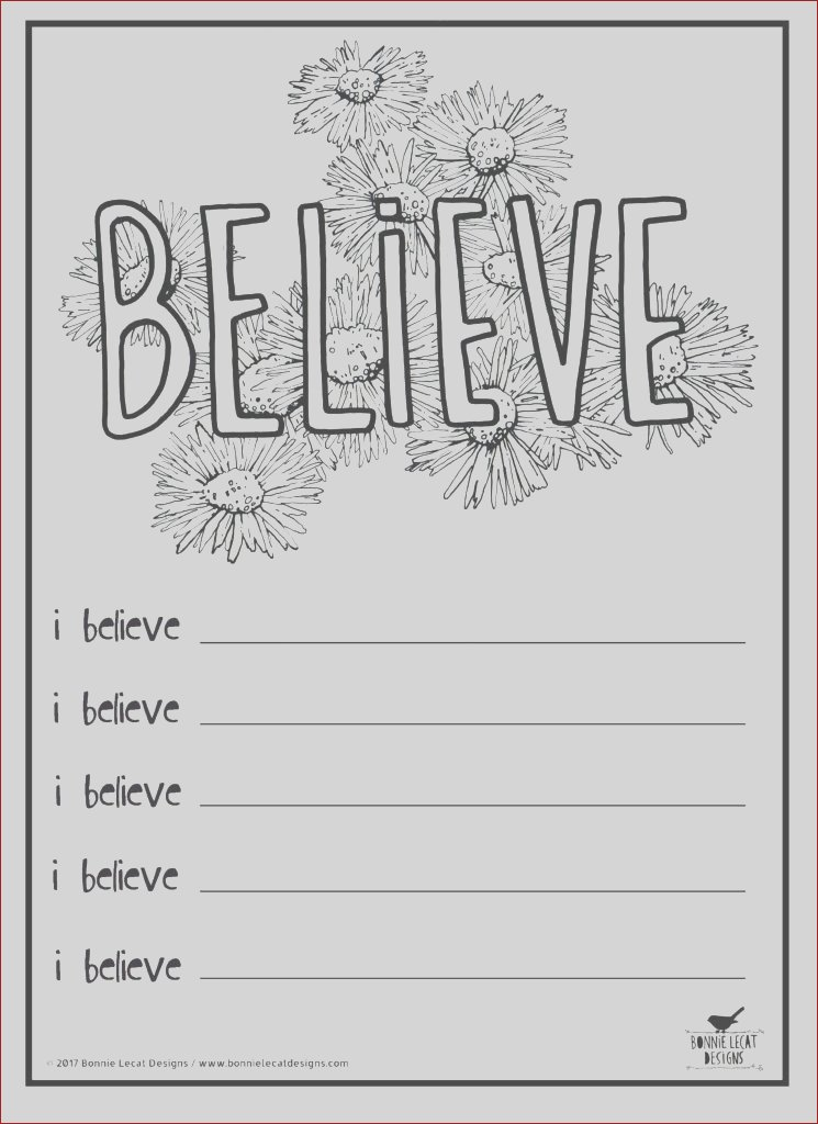 believe coloringjournal page
