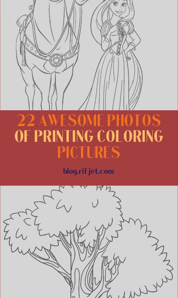 Printing Coloring Pictures Elegant Photos Free Printable Tangled Coloring Pages for Kids