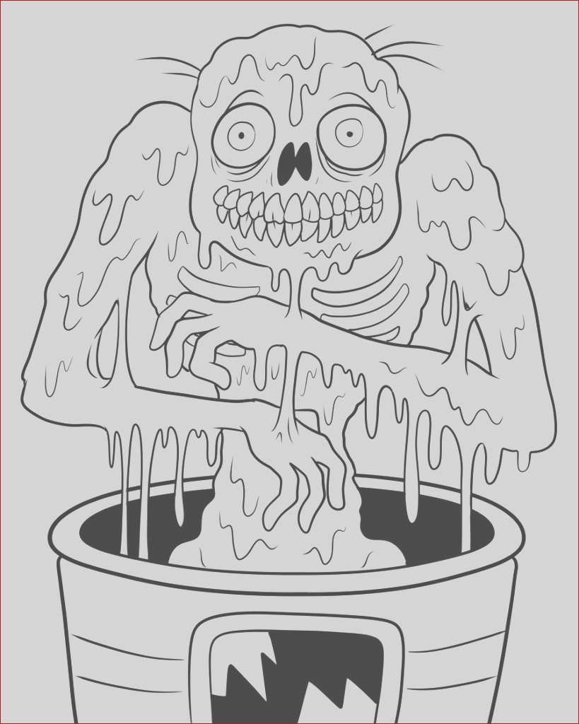 zombies coloring pages