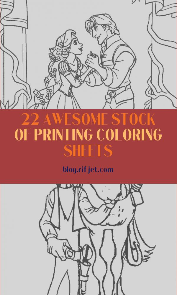 Printing Coloring Sheets Unique Collection Free Printable Tangled Coloring Pages for Kids