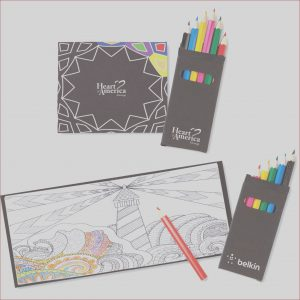 Promotional Coloring Books Awesome Image Promotional Black Cover Adult Coloring Book and 6 Color
