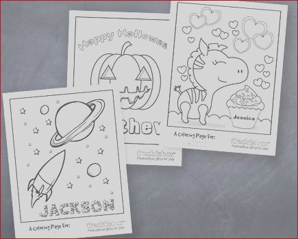 free personalized coloring pages for kids