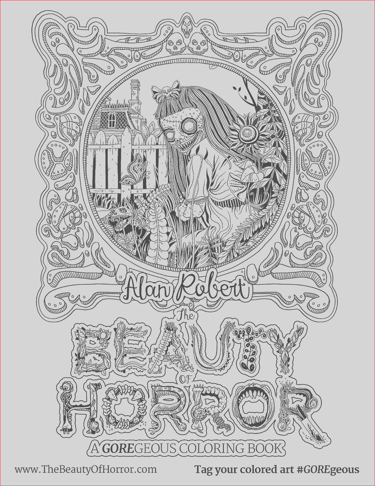 life of agony alan robert the beauty of horror ii coloring book interview exclusive page s