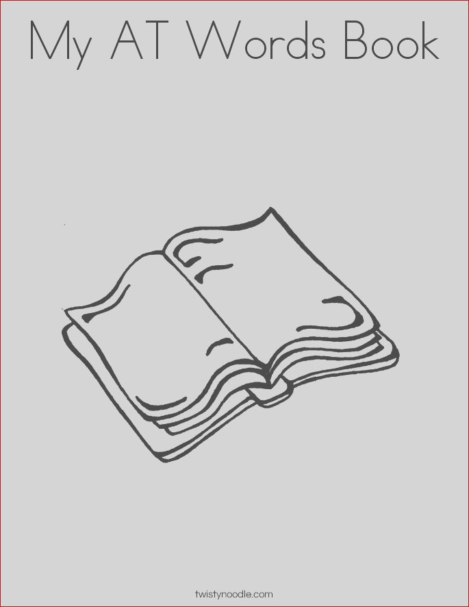 my at words book coloring page